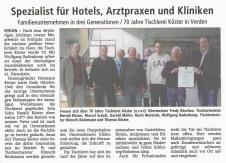 Zeitungsartikel zur 40-jährigen Betriebszugehörigkeit
